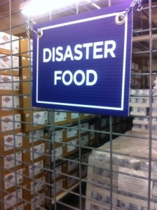 disaster food sign