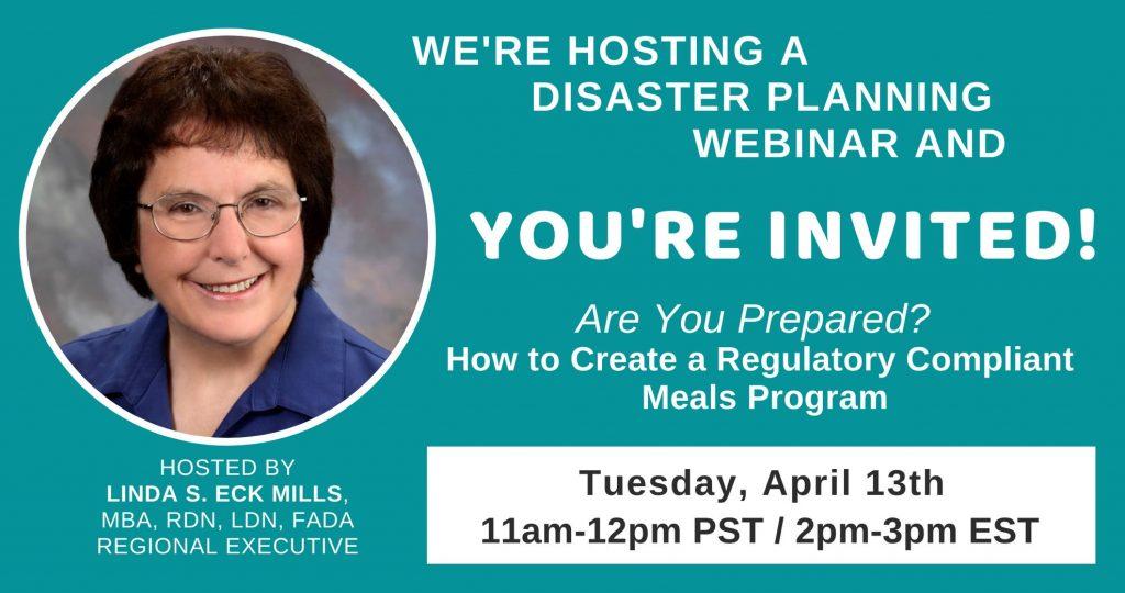 FREE Disaster Preparedness Webinar April 2021